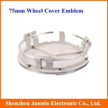 4 Pcs/lot 75mm Emblem Wheel Cover Hub Cap Hubs Half Plating Free Shipping