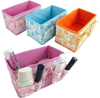 Free shipping,Retail Folding Cosmetics Storage Box Desktop Storage Box ,Desk collection box,3pcs/lot #1086