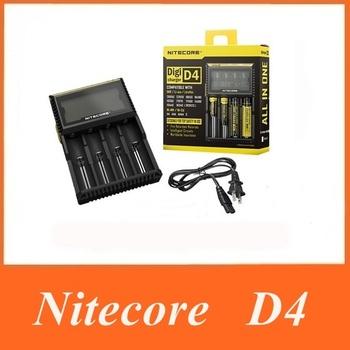 2015 Original Nitecore D4 Digicharger LCD Display Battery Charger Universal Nitecore Charger +Retail Package