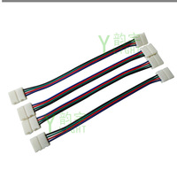 LED RGB Strip Connector, SMD5050 Single LED Strip connector, Solderless connector, for PCB with 10mm 15cm long hongkong post