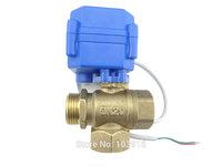 3 way DN20(reduce port) motorized ball valve , electric ball valve(L port), motorized valve, MS-3-20-12V-L-R01-1