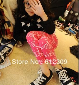 New 5pcs Baby Girls Hello Kitty Leggings fashion thick leggings cute and carton design free shipping