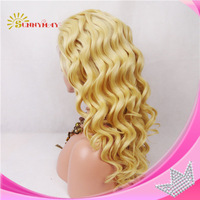 Sunnymay Blond Hair Wig Bleached Knots Peruvian Virgin Hair  Full Lace Human Hair Wig Loose Curly In Stock