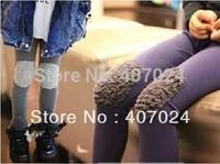 Wholesale Spring/Autumn cotton patch leggings boots pants girls kids baby long trousers wear 5pcs/lot  570076J
