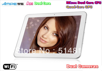 "AMPE A85 Dual Core 8"" IPS 1024*768 Tablet PC Android4.1 RK3066 Dual Core 1.6GHz Quad-Core GPU WiFi HDMI OTG Dual Cameras"