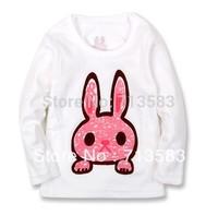 High quality,New style 100% Cotton animal(Lion, elephant, rabbit ) printed children boy's/ girl's long sleeve T-shirt,(8 pcs