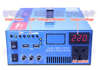 Solar inverter 600W with built-in PWM charger controller,  pure sine wave solar inverter with LCD display