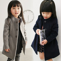 Fashion Korean style winter thick girl's coat children's outwear wind coat overcoat Wool kids Jacket Christmas gift