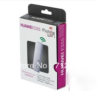 Free shipping by Post wholesale Huawei E355 3G Wifi Router pocket Wifi, unlocked  hotspot HSDPA 21.6Mbps(Pocket Wi Fi)