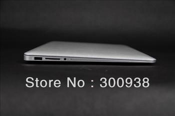 New Arrival 13.3 Inch i3 Processor Ultrabook Laptop With Aluminum Metal Case i3-3217U Dual core 1.8Ghz 4GB RAM&128GB SSD 8400mAh