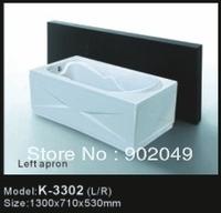 Apron Skirt Side Bathtub K-3302 One Person Hot Tub Cheap Bath Tub China Factory Wholesale