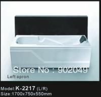 Rectangle One Apron Skirt Side Bathtub K-2217 Acrylic Cheap Bath Tub Wholesale Tub Sanitary Ware