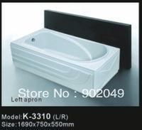 Sanitary Ware Bathroom Accessories Apron Skirt Side Bathtub K-3310 Little Spa Tup Soaking White Color Acrylic
