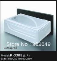 Bathroom Accessories Apron Skirt Side Bathtub K-3305 Little Spa Tup Soaking White Color Acrylic