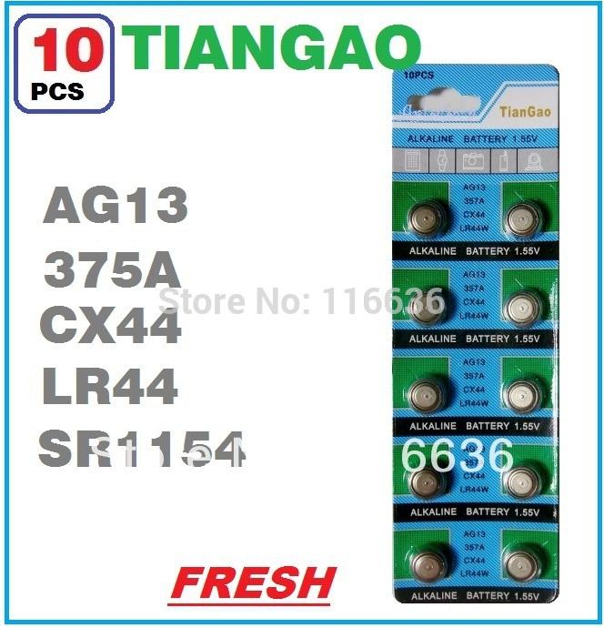 10x-AG13-LR44-1166A-L1154-RW82-RW42-SR1154-SP76-A76-TIANGAO-Watch ...