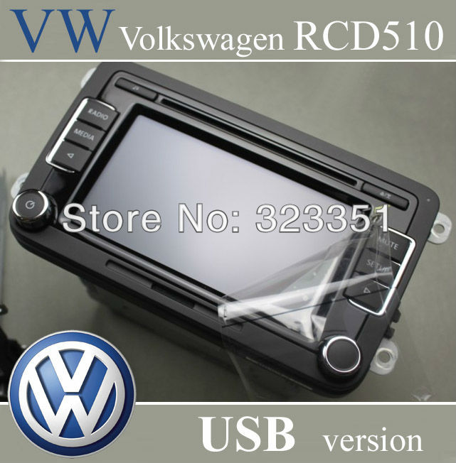 VW Volkswagen Car Radio RCD510 USB Version CD Player with CODE New Unused Original Radio For Golf Tiguan Jetta Passat B7 Golf(China (Mainland))