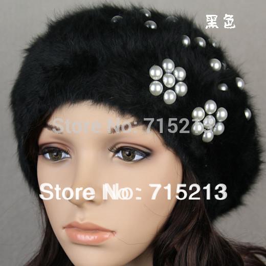 Free shipping 2014 Angora blend hat ladies fall winter Angora blend FLOSS helmet cute beret women hats winter girl(China (Mainland))