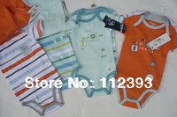 Free Shipping High quality baby romper  baby clothes ,100% cotton,2 pieces one set, size in 3/6/9/12/18M original brand