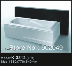 Cheap Skirt Side Bathtub K-3312 Wholesale China Sanitary Ware Manufacturer Spa Hot Tub Bathroom Accessory(China (Mainland))
