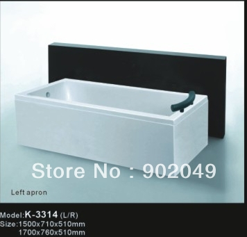 Rectangle Cheap Apron Skirt Side Bathtub K-3314 1 Person Hot tub Acrylic Bathtub Sanitary Ware Manufacturer(China (Mainland))