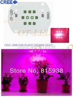 30W Cree XPE XP-E Led Emitter Bulb Red(8PCS)+ Blue(2PCS) Mix Color Multichip Plant Grow Light DIY Emitter 24-26V 350mA~1000MA