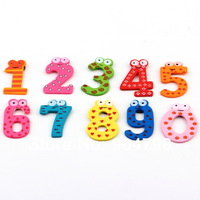 1set X mas Gift Set 10 Number Wooden Fridge Magnet Education Learn Cute Kid Baby Toy Worldwide FreeShipping