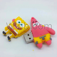 Sponge and Heart USB Flash Drive 2GB 4GB 8GB 16GB 32GB Real Capacity PVC U Disk HKPAM DHL Simple Shipping Solution For Mix Order