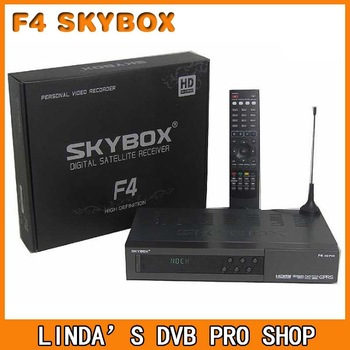 Best Quality ! Original HD DVB-S2 Skybox F4  satellite decoder free shipping!
