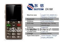 Free Shipping Senior cell phone EA188 language Loudly Speaker high Quality multi choices