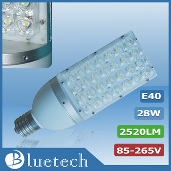 28w E40 LED street light,high brightness Epistar LED chip,CE/ROHS approved park light,free shipping