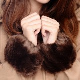 Hot Sales! 2013 Imitation Rabbit Fur Wrist Sets Free Shipping Special Promotions Beautiful Wild Fashion Black red gray pink
