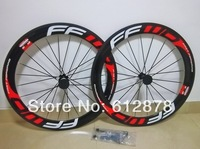 Free shipping wheelset FFWD F6R 60mm clincher bicycle wheels 700c carbon fiber road bike racing wheelset