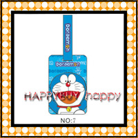 Cartoon Doraemon 100pcs / Lot  Fly Plastic Travel Luggage Tag Gift Hotsale