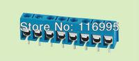 Free shipping 100pcs blue pcb terminal block 3pin / 5.0mm EC301-3P