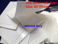 100pcs/Lot retangle nfc smart tags/stickers RFID label, classic 1k , for Galaxy S3, for andriod nfc phone,size 40*25mm