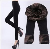 Thicken!!! free shipping !Plus velvet winter women warm leggings pants 300g