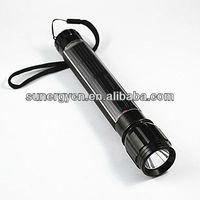 Free shipping  CE & ROSH 1 LED aluminium solar LED reachargeable flashlight