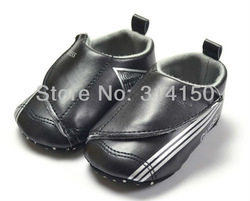 FREE SHIPPING----baby boy casual shoes first walker prewalkers black PU soft shoes boy winter warm antiskid shoes 1pair 1267(China (Mainland))