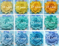 "DHL/EMS Free Shipping 70y/lot 55 colors 2.5""chic  frayed chiffon shabby flower trim,shabby rose flower ,hair accessories,"