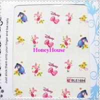 Free shipping,Nail Sticker, New Fashion Nail Sticker with Pattern of Doraemon /Weenie bear/mickey Nail Decoration,Wholesale