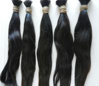 Bulk hair for braiding braid machine bulk braiding hair Natural Straight 1# 12-32inch 100g/pc 5Pcs/Lot