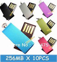 Small Bulk Sell 10pcs USB Drive 256MB Swivel USB Drives Metal Stick Mini Size Memory Flash Drives