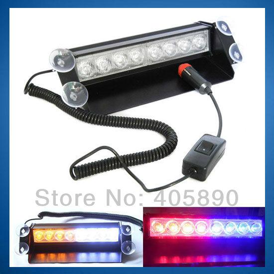 led car strobe light 8w 12v car flashing light emergency warning light. Black Bedroom Furniture Sets. Home Design Ideas