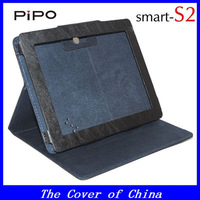 "1pcs Free shipping ! Original 8"" leather case for Pipo S2 Dual core tablet pc black&hot pink+Screen protector as gift"
