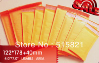 "#000 Golden Kraft  Bubble Envelopes Mailer  122mm x 218mm (4x8"") 55pcs/pak Customised quantity Sale accepted"