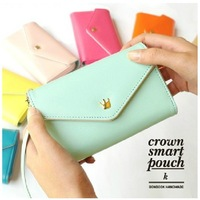 Free Shipping DSB3021201 Women Fashion Bags iPhone Wallet Purse Coin Case,Wristlet,Pouch, PU Leather Zip Wallet Clutches Bag
