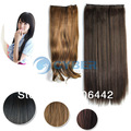 Style Women's Lady Long Fashion Full Curly Wavy / Straight Clip-in Synthetic Hair Extensions 3 Colors