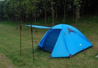 Free shipping 3-4 Person  Double Layer   Outdoor Camping  hiking Tent Traveling Tents waterproof windproof tents