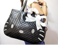 Hot sale Hello Kitty shoulder bag shopping bag waterproof bag like tote bag purse 1PC three colors free ship 820001J