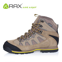 Top Quality Fashion RAX men winter waterproof shoes zapatos Genuine leather Hiking Shoes TEX Outdoor sport rubber Trekking Shoes